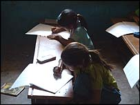 Girls in Indian school