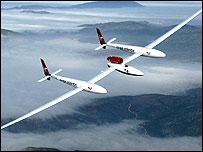 Virgin GlobalFlyer in the air (Image: Virgin GlobalFlyer)