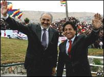 Presidentes de Bolivia, Carlos Mesa y de Per�,  Alejandro Toledo