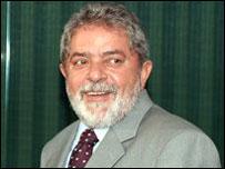 El presidente de Brasil, Luiz In�cio Lula da Silva