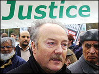 MP George Galloway at anti-war protest