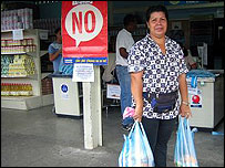Shopper at a Mercal supermarket