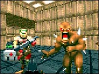 Screenshot of original Doom, Activision