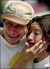 Personas afectadas por los terremotos de 2001
