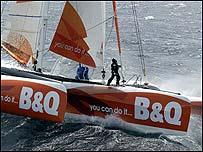Ellen MacArthur on B&Q. Photo: Ivor Wilkins/DPPI/Offshore Challenges