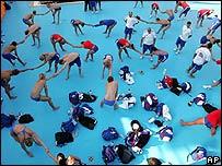El equipo de nataci�n brit�nico