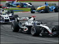 David Coulthard improved on his eighth place in Australia