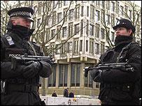 Armed police on terror alert