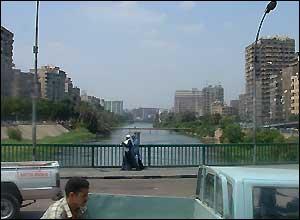River scene of Cairo in Egypt