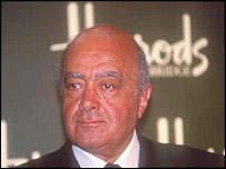 Harrod's boss Mohammed Al Fayed