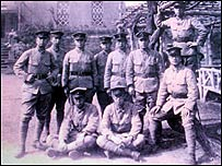 Masao Hirakubo (front right) with fellow raw recruits
