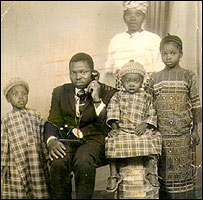 Billy's family in Guinea - Billy is the child on the left