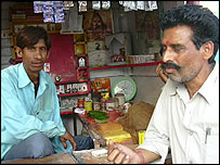 Betel nut and cigarette shop in Rae Bareilly