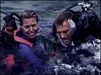 Blanchard Ryan and Daniel Travis in Open Water
