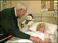 Arthur and Gwen Brett in hospital