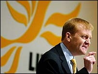 Charles Kennedy at the party conference in 2004