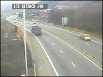 Traffic camera picture of M4 junction 40