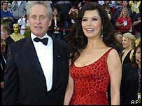 Catherine Zeta Jones and Michael Douglas at this year's Oscars