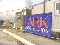 Lark Construction sign