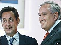 Nicolas Sarkozy with Jean-Pierre Raffarin