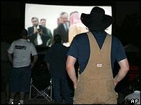 Screening of Fahrenheit 9/11 in Crawford, Texas