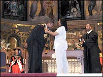A black graduation ceremony in US
