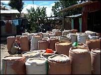 Grain in Ethiopian market   A Kirby
