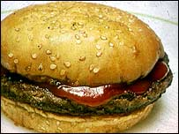 Hamburger in bun   BBC