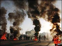 Protestas en Gaza por la muerte de Yassin.
