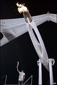 Llama Olímpica en Atenas 2004