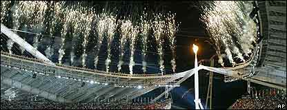 Llama Ol�mpica en Atenas 2004