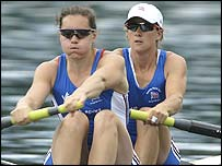 Britons Cath Bishop (left) and Katherine Grainger