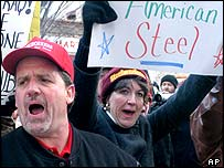 Angry US steelworkers