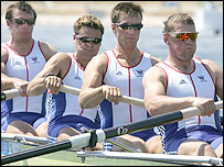 (From left to right) Steve Williams, James Cracknell, Ed Coode and Matthew Pinsent