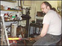 Blacksmith Jason Gardiner