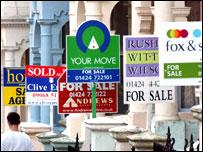 Estate agents boards