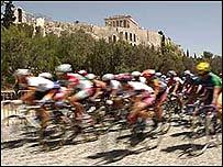 Велогонка в Афинах