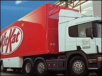 KitKat lorry