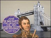 Representación de San Martín en Londres