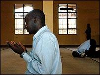 Muslims pray at Nyamirambo Mosque in Kigali