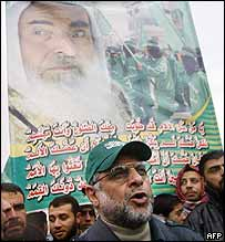 Abdel-Aziz Rantissi at a Hamas rally