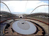 Olympic stadium during construction
