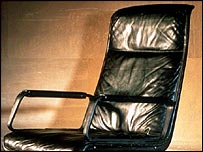 The black chair which featured in Mastermind