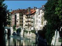 Slovenia's capital, Ljubljana