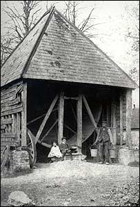Picture of Saddlescombe donkey wheel supplied by the National Trust