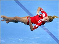 Russia's Svetlana Khorkina in action