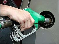 Filling up a car