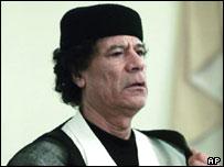 Libyan President Colonel Gaddafi