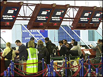 BA check-in desks