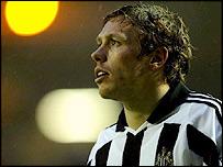 Newcastle United striker Craig Bellamy
